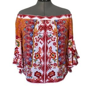 Flying Tomato Boho off-the-shoulder top L